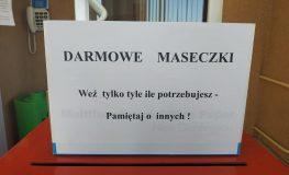 Urząd Gminy Jejkowice rozdaje darmowe maseczki | fot. UG Jejkowice