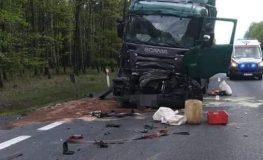 Śmiertelny wypadek w powiecie pszczyńskim | fot. OSP Kobiór