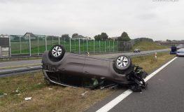 Wypadek na A1 w Połomi. Ranne zostały cztery osoby