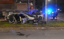 Kierowca podczas ucieczki staranował radiowóz w Częstochowie