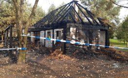 Dwie osoby zginęły w pożarze altany w Myszkowie | fot. Policja Śląska