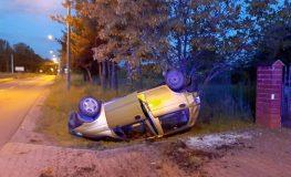 Pijany kierowca dachował w Czerwionce-Leszczynach