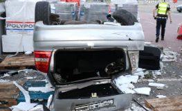 Pijany kierowca spadł ze skarpy
