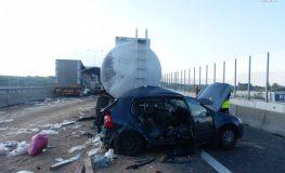 Śmiertelny wypadek na A4 w Gliwicach   fot. Policja Śląska